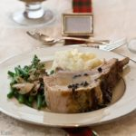 Rack of pork is an elegant dinner, perfect for special occasions, but easy enough to make for a special Sunday supper. With a serving of green peppercorn sauce, this meal is absolutely delicious!