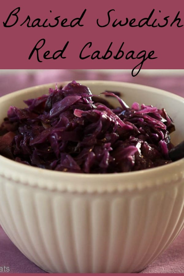 Braised Swedish Red Cabbage.