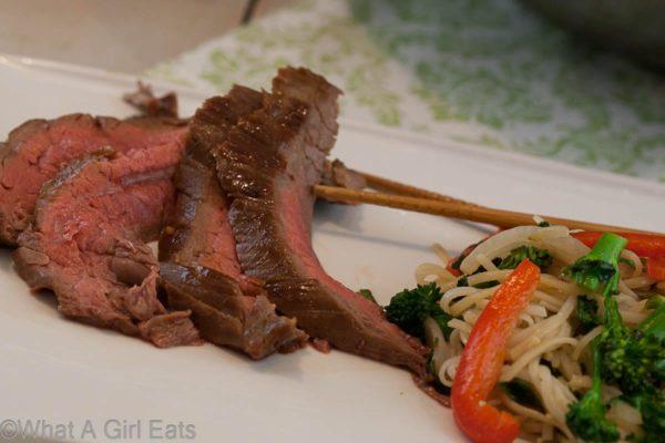 Maple-Soy Glazed Flank Steak   What a Girl Eats