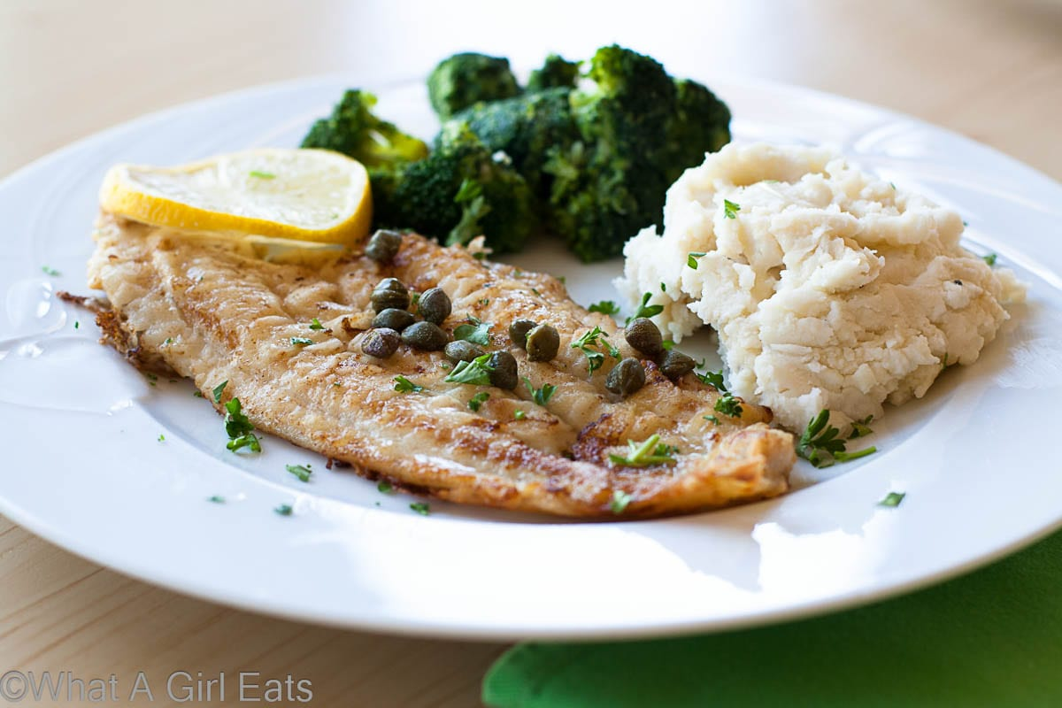 Pan-Fried Dover Sole with Capers and Lemon