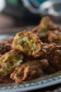 Onion fritters. whatagirleats.com
