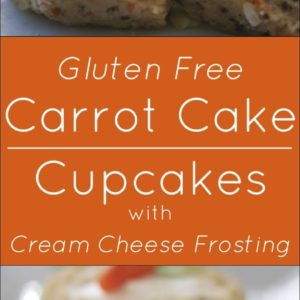 Gluten Free Carrot Cake Cupcakes with Cream Cheese Frosting.