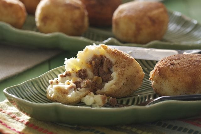 Papas Rellenas are a traditional Cuban delicacy. | Recipe from @whatagirleats