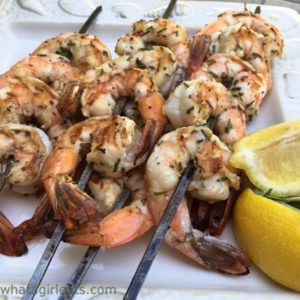 Grilled Rosemary Shrimp {Whole30 Compliant}