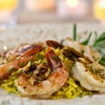 Grilled Rosemary Shrimp Rice Pilaf