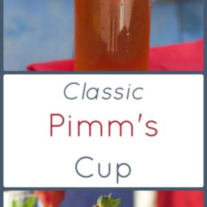 Pimm' Cup is a classic British drink popular during Wimbledon and the summer.