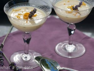 Orange, honey and lavender posset.