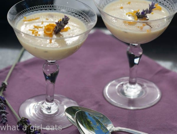 Two delicious and simple posset recipes - Lemon Posset, and Honey Orange Lavender Posset. Just 3 simple ingredients needed to make this delicious dessert!   @whatagirleats