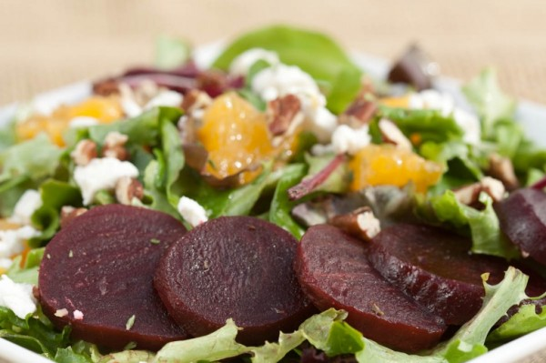 Beet, Orange and Goat Cheese Salad with Orange Vinaigrette