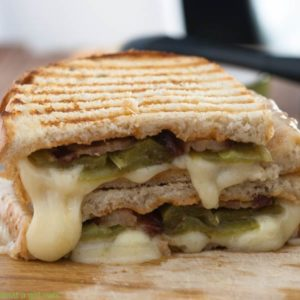 Hatch Chile Bacon Grilled Cheese Sandwich with Chipotle Mayo | WhatAGirlEats.com