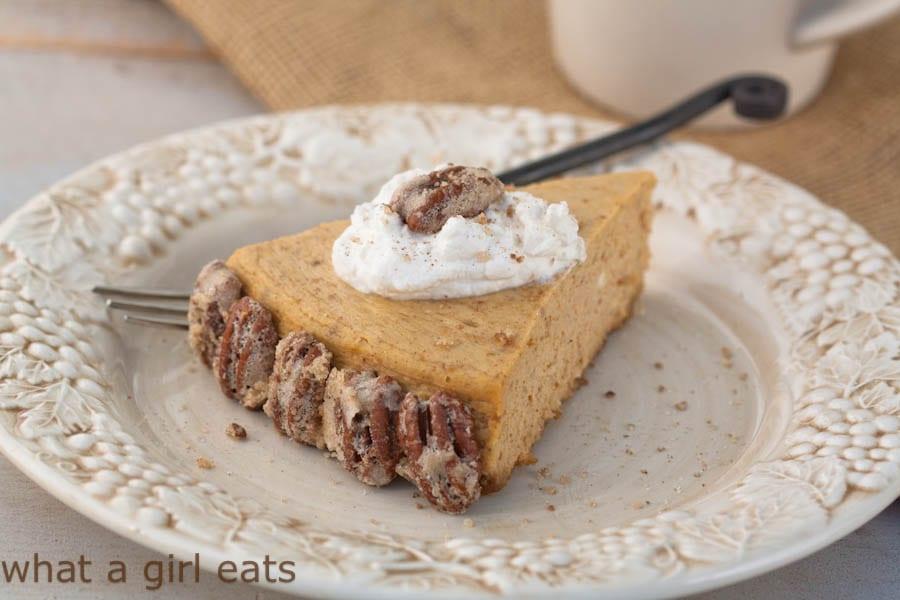 Pumpkin spice cheesecake gluten free