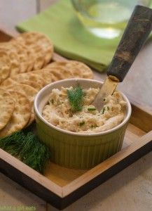 Smoked trout mousse. whatagirleats.com