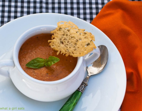 Tomato Basil Soup With Goat Cheese - What A Girl Eats