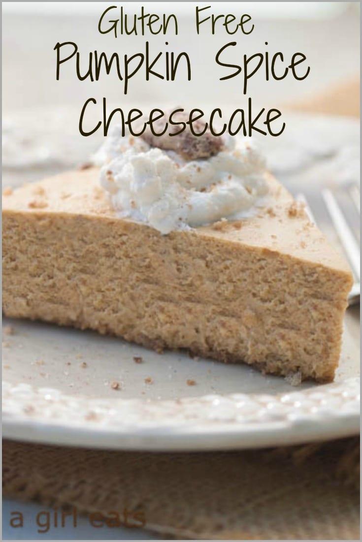 gluten free pumpkin spice cheesecake