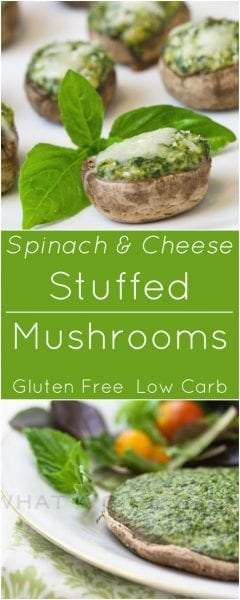 spinach mushrooms gluten free