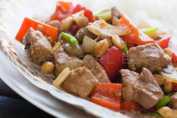 Get the easy recipe for Szechuan pork | WhatAGirlEats.com