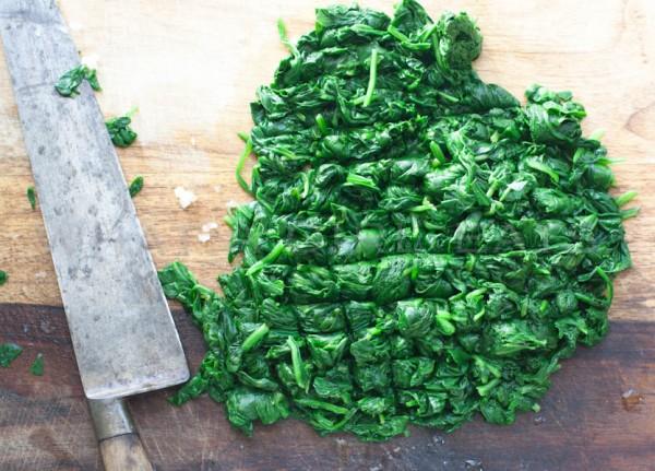 Chopped spinach