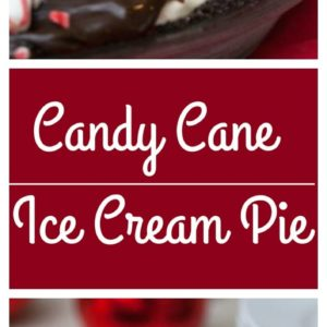 Candy Cane Ice Cream Pie. Super easy!