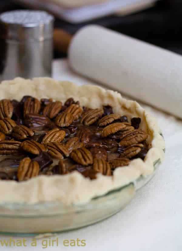 Chocolate Chunk Pecan Pie - What A Girl Eats