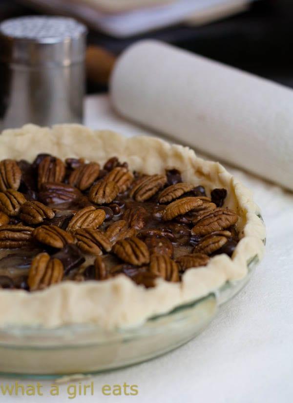 Chocolate Chunk Pecan Pie - What A Girl Eats