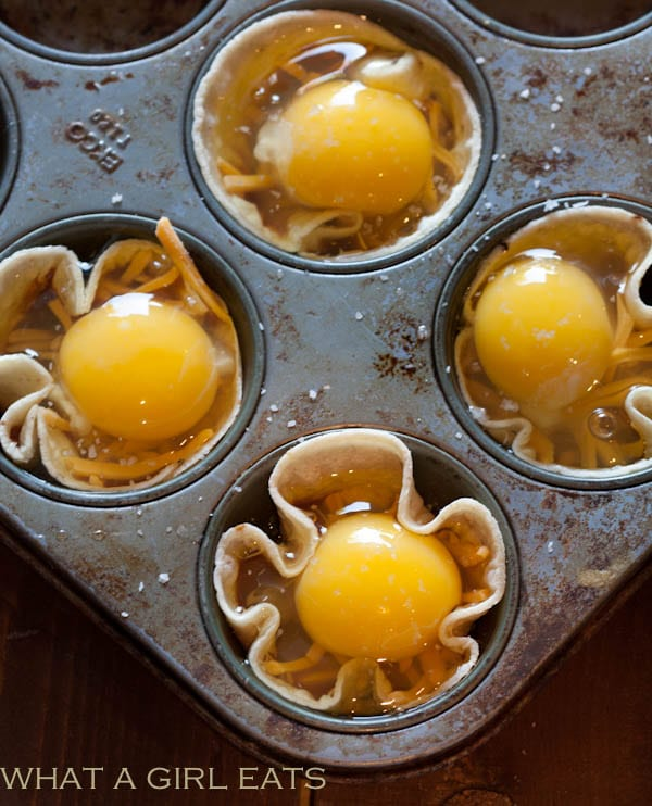 A muffin tin is the perfect size for egg cups.