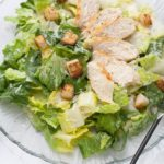Caesar Salad {Raw Egg-Free Dressing}