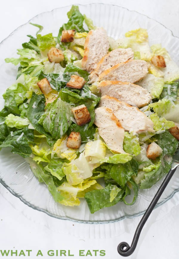 Caesar salad dressing is a delicious, creamy salad dressing that typically calls for the use of raw eggs. This egg-free Caesar salad dressing recipe uses mayonnaise instead!