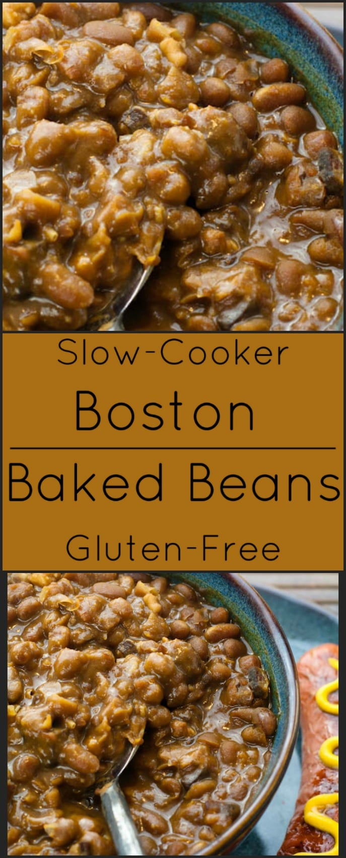 Slow-cooker Boston Baked Beans are the perfect accompaniment to any BBBQ. Naturally gluten free!
