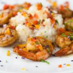 Confetti Shrimp, spicy shrimp with sautéed vegetables…it's a party on a plate!