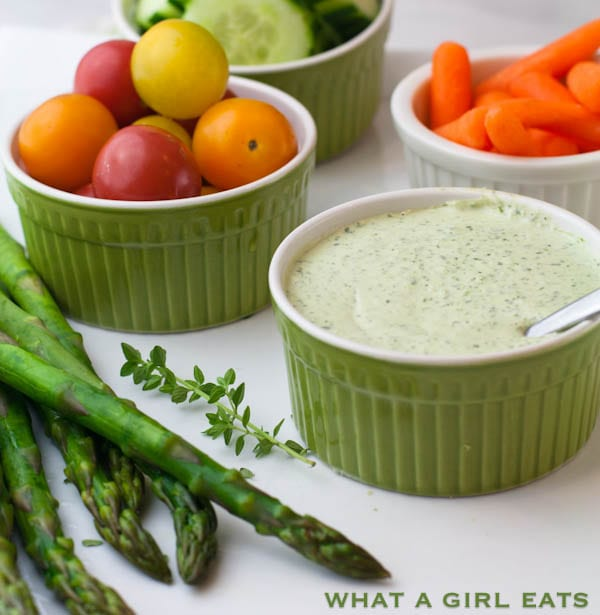 Ina Garten's Green Goddess Dressing Recipe | @whatagirleats