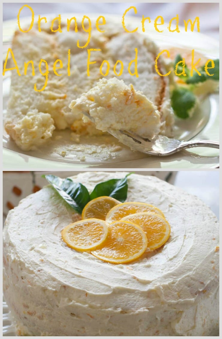orange cream angel food cake pin