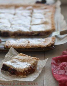 Apricot Cherry Slab Pie