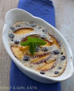 ndividual Peach and Blueberry Clafoutis