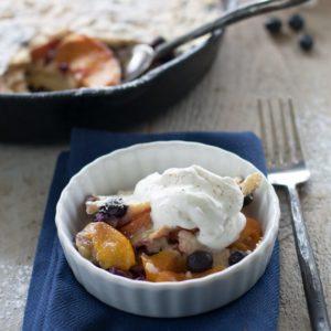 Blueberry Peach Clafoutis