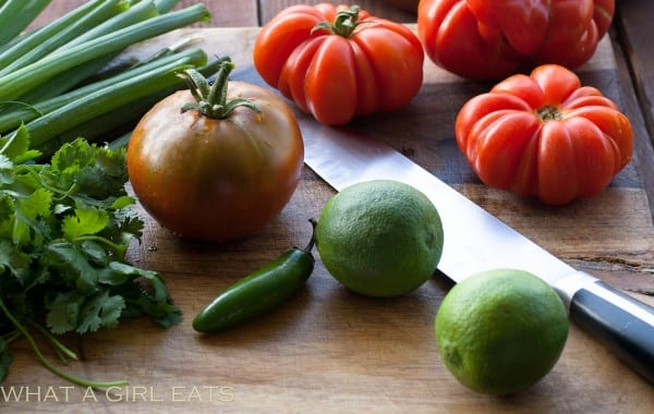 Salsa fresca ingredients