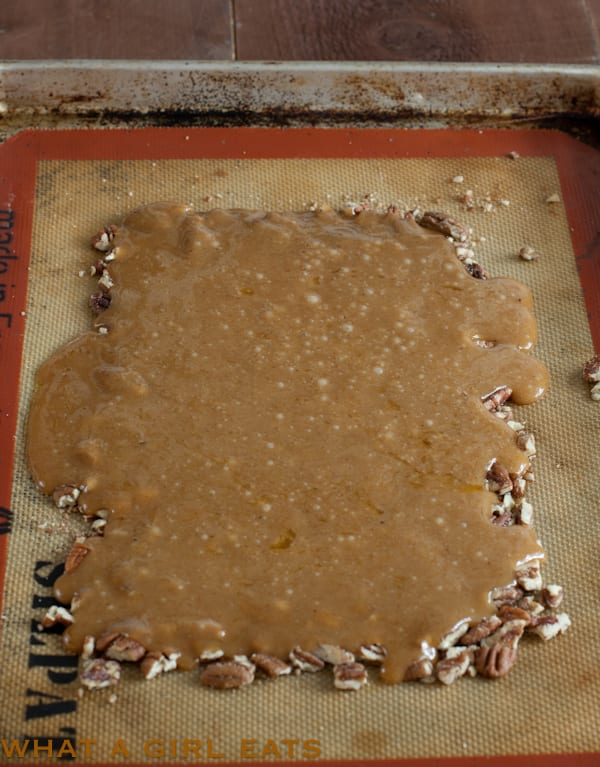 making homemade toffee