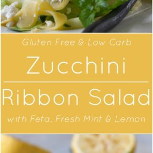 Zucchini Ribbon Salad with Feta, Fresh Mint and Lemon.