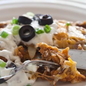 Enchilada close-up