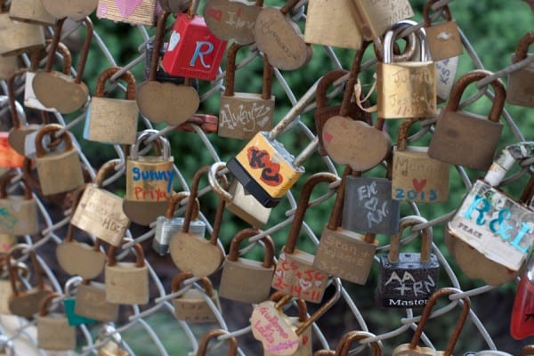 Bring a lock for the love lock bridge, and toss the key in the river.