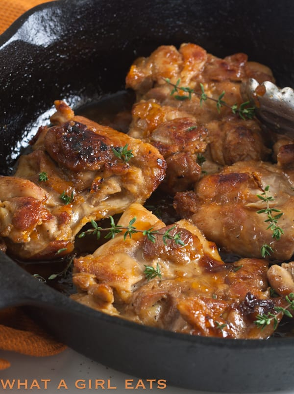 Chicken with Apricot Ginger Glaze