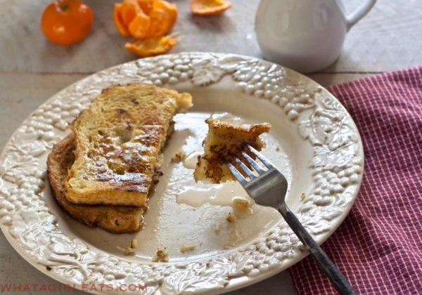 Honey Cinnamon French Toast - Recipe from WhatAGirlEats.com