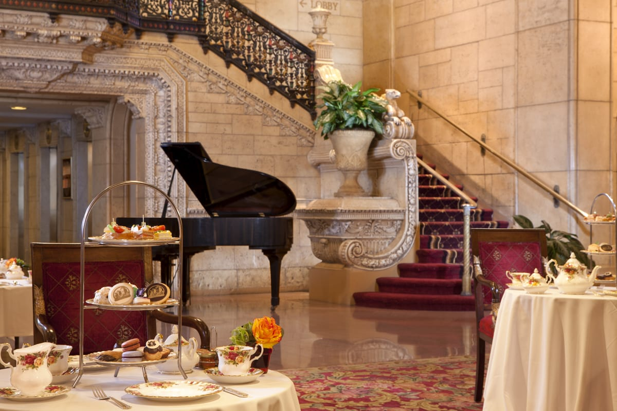 Afternoon tea at the historic millennium biltmore hotel for Dog hotel los angeles