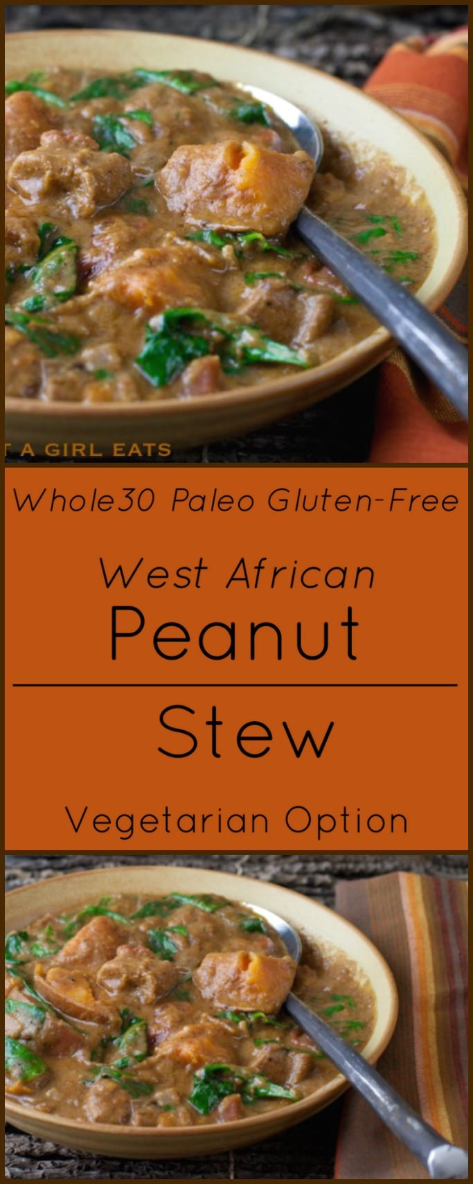 West African Peanut Stew with Chicken and Sweet Potatoes is Whole30 compliant, Gluten Free and Paleo.