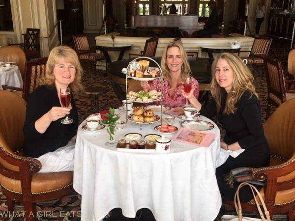 Enjoying afternoon tea at the Langham Huntington, in Pasadena California