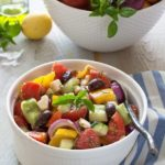 Greek Salad With Feta And Fresh Herbs