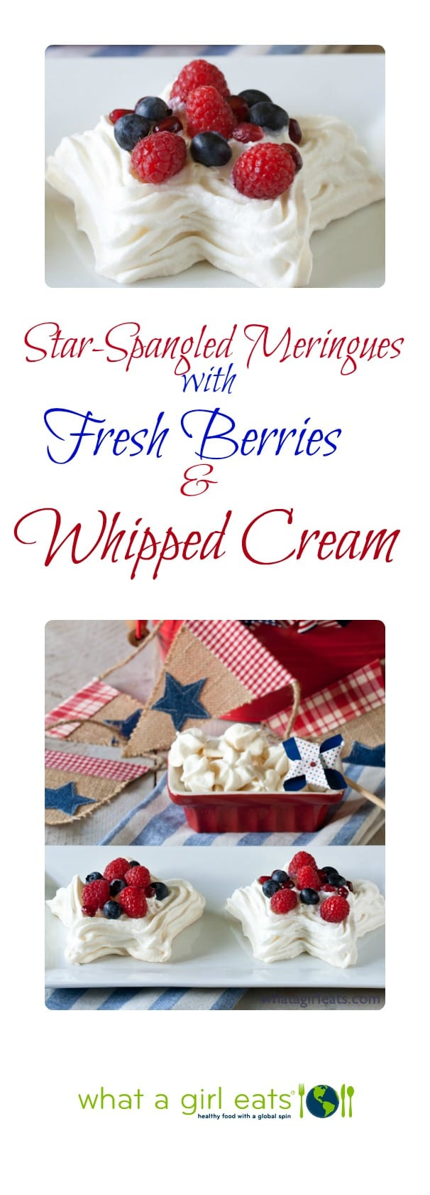 Star-Spangled Meringues with Fresh Berries.