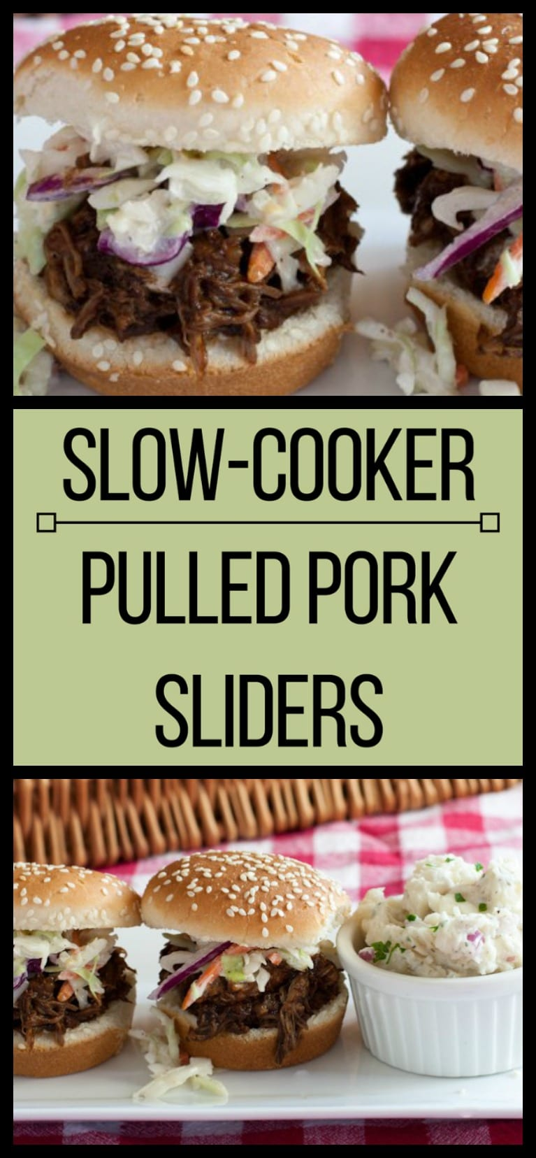 Slow-cooker BBQ Pork Sliders with Western South-Carolina Style Barbecue Sauce