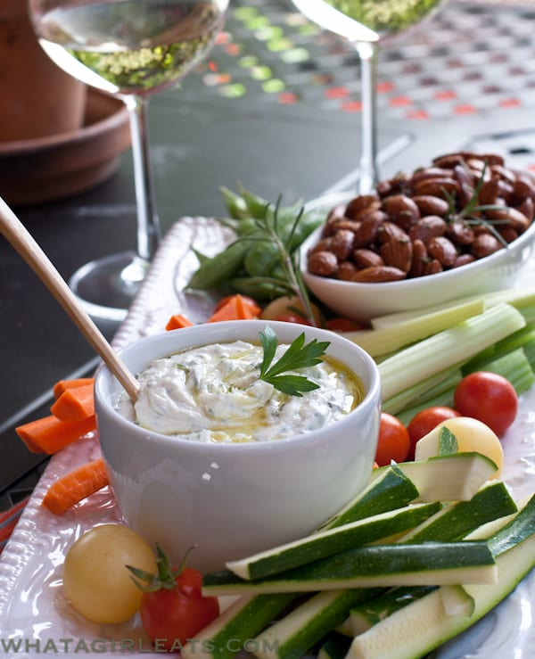 Herbed Goat Cheese Dip - What A Girl Eats