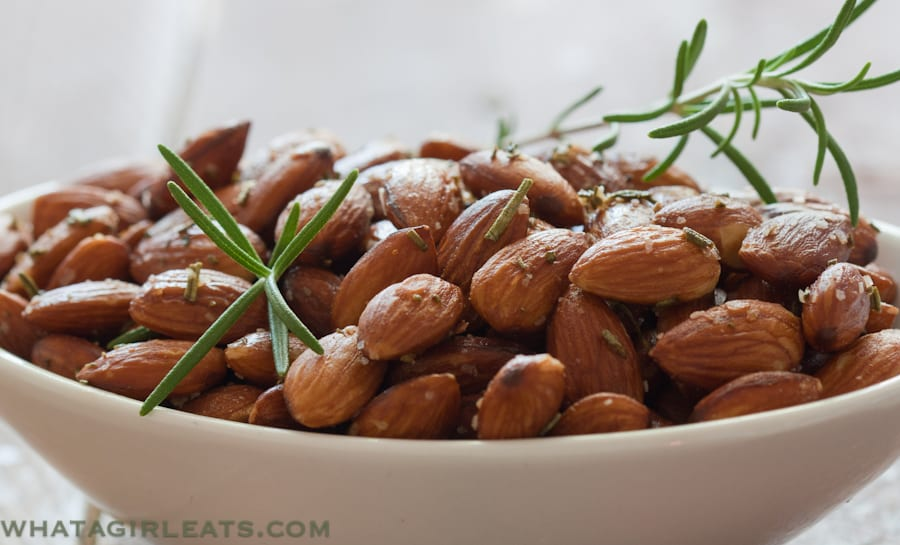 Keep these easy Rosemary Almonds on hand for a quick addition to a tapas platter.