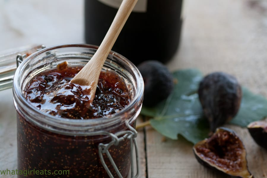 ruby port fig jam close up